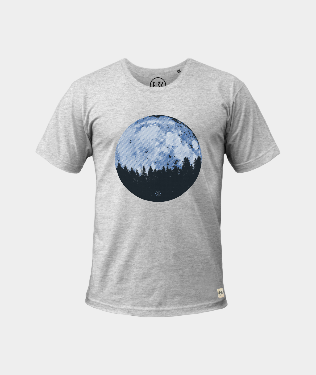 Image of   T-shirt, grå Full Moon